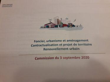 1ère commission : aménagement… tout unprogramme